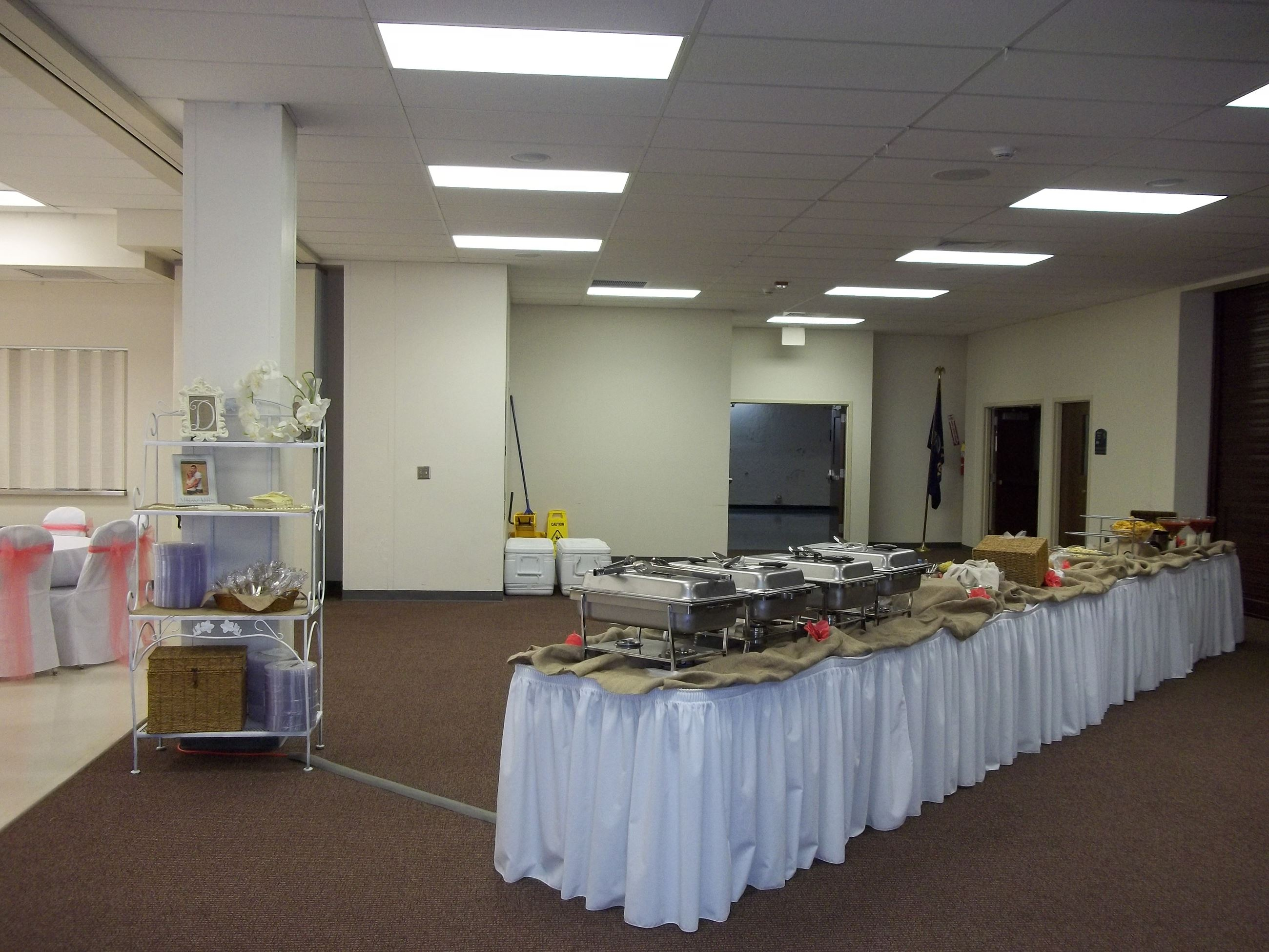 Buffet Line in Gallery